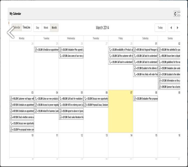 My Calendar Screenshots
